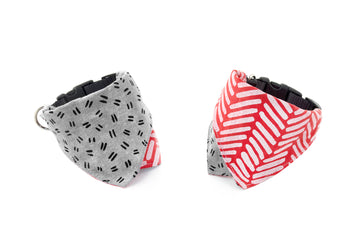 REVERSIBLE BANDANA COLLAR | Oatmeal/Grey
