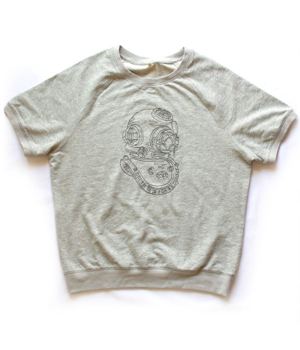 Deep Diver Short Sleeve Sweat - Cloud Gray
