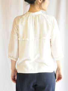 Anne Blouse in Antique Beige