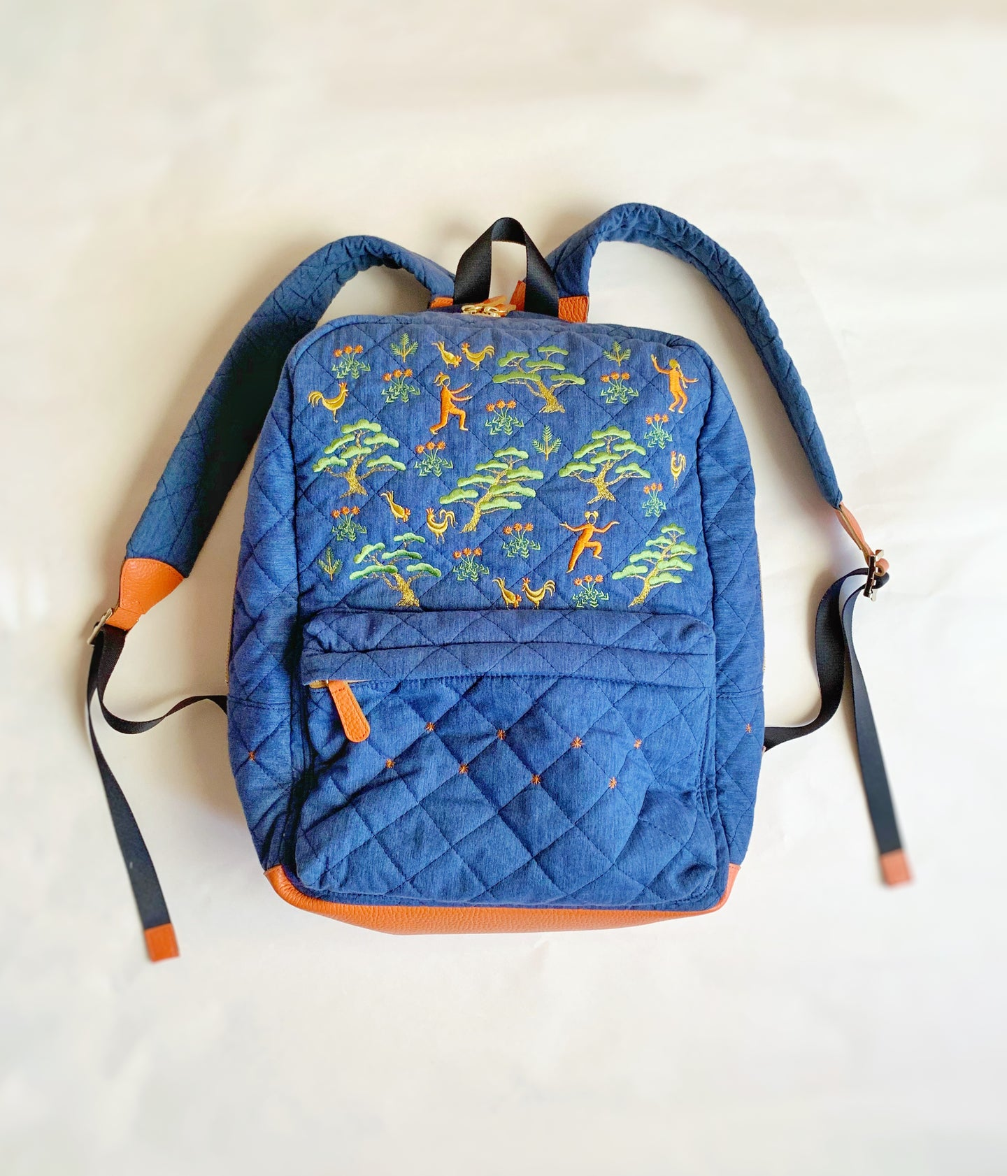 Lucky Pine Quilted Backpack