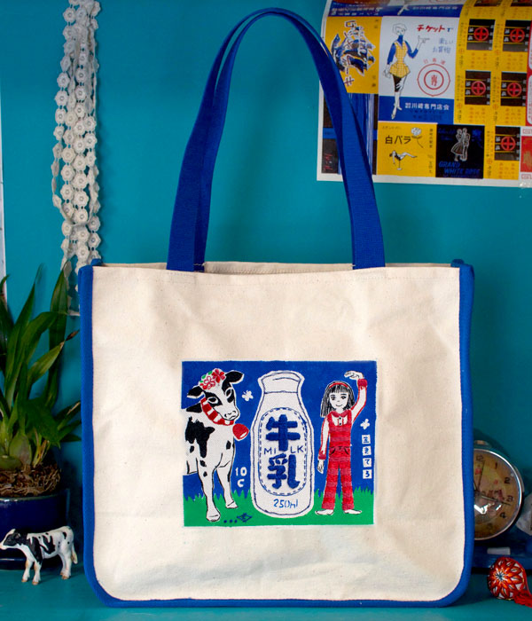 Retro Art Tote - Milk