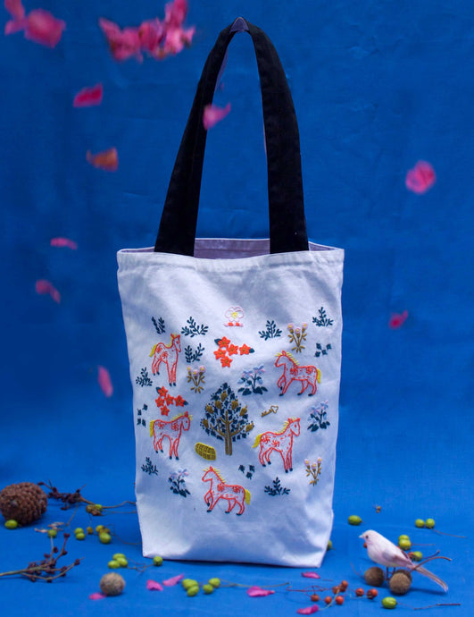 Botticelli Ponies Tote (Milk White)