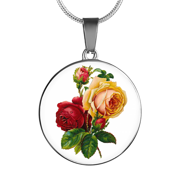 June: Rose Red and Yellow, Necklace