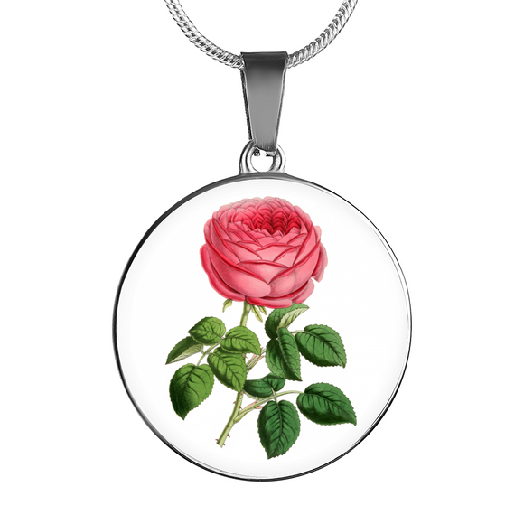June: Rose Single Dark Pink, Necklace
