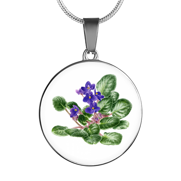 African Violet 2, Necklace