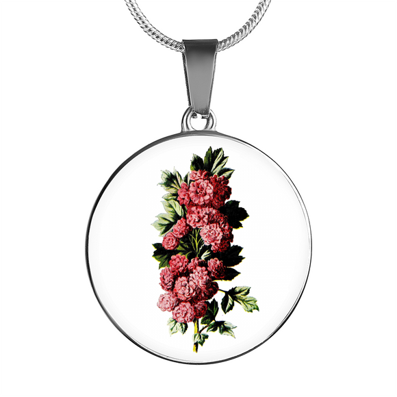 Carnations Deep Pink, Necklace