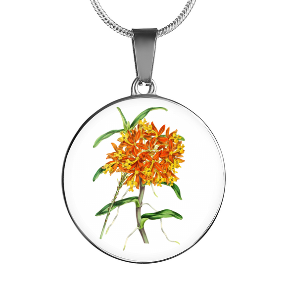 Florida Orchids, Necklace