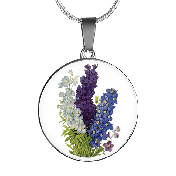 Delphinium, Necklace