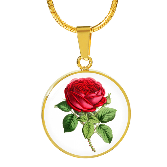 June: Rose Single Red, Necklace