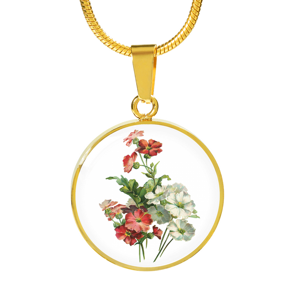 February: Primrose Red and White, Necklace