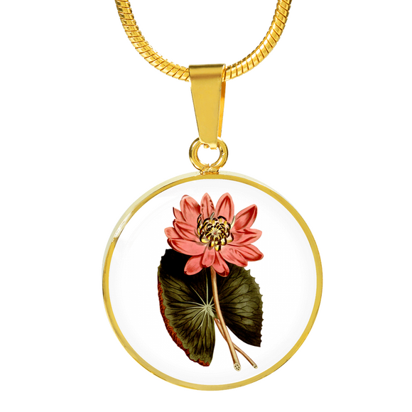 Water Lily Pink, Necklace