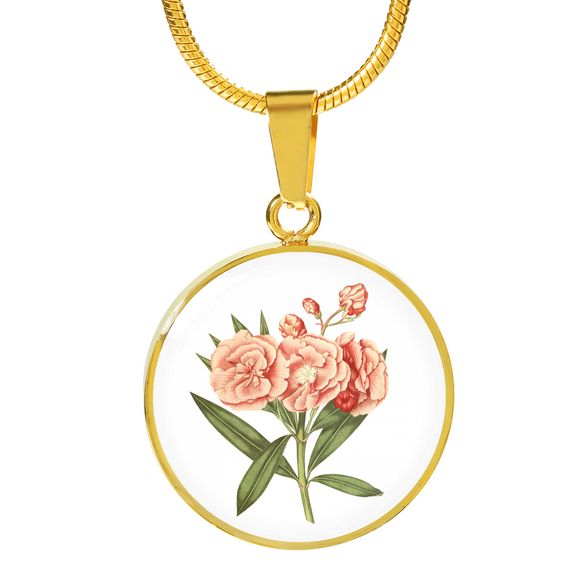Sagittarius: Carnation Soft Pink, Necklace