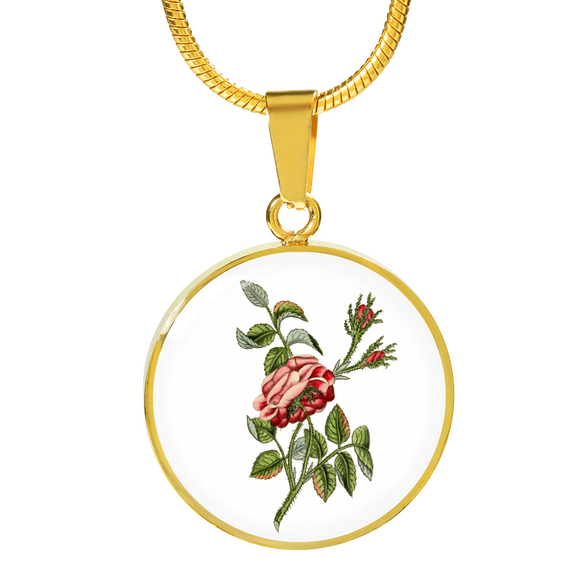 Rose Single Dusty Pink, Necklace