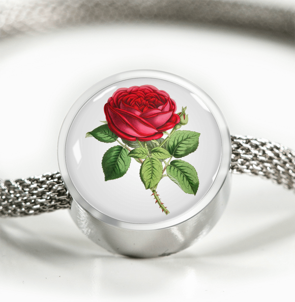 June: Rose Single Red, Luxury Bracelet