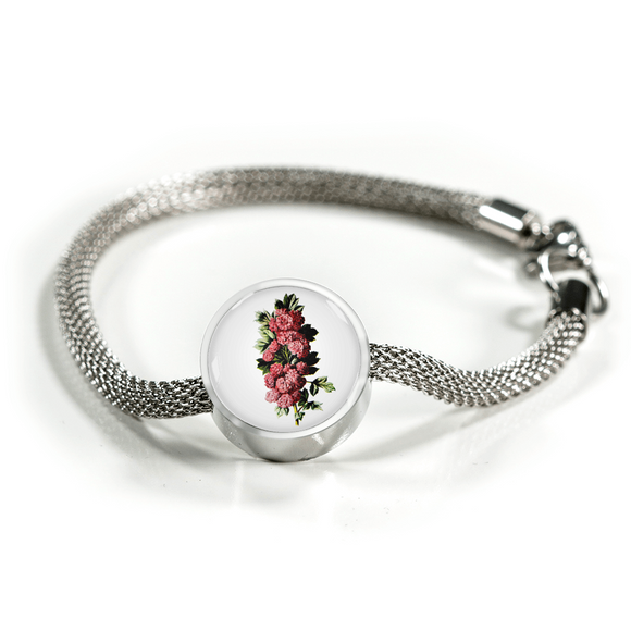 Carnations Deep Pink, Luxury Bracelet