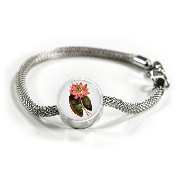 Water Lily Pink, Luxury Bracelet