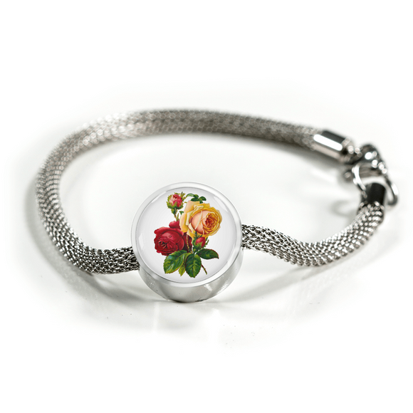 June: Rose Red and Yellow, Luxury Bracelet