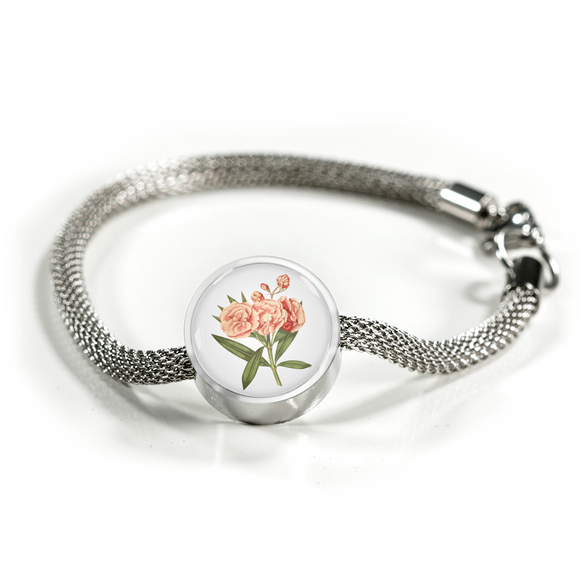 Sagittarius: Carnation Soft Pink, Luxury Bracelet