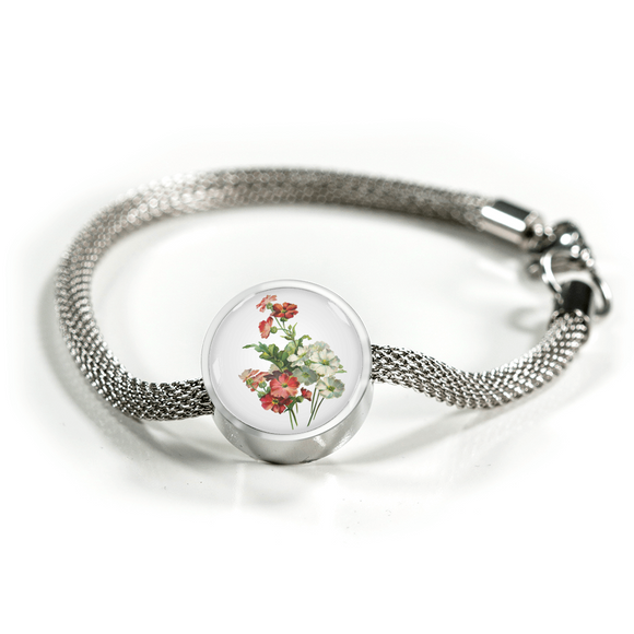 Primrose Red and White, Luxury Bracelet