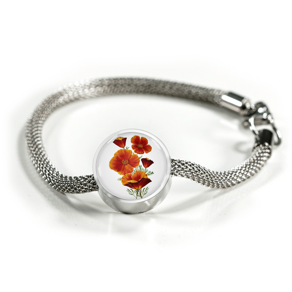 Poppies Red, Luxury Bracelet