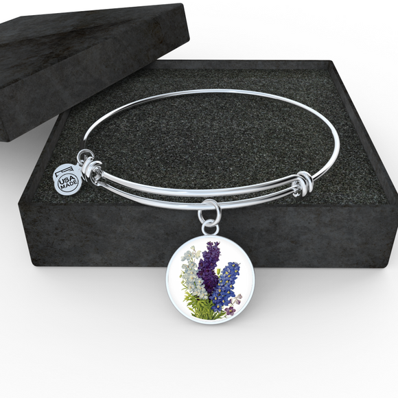 Larkspur, Bangle Bracelet
