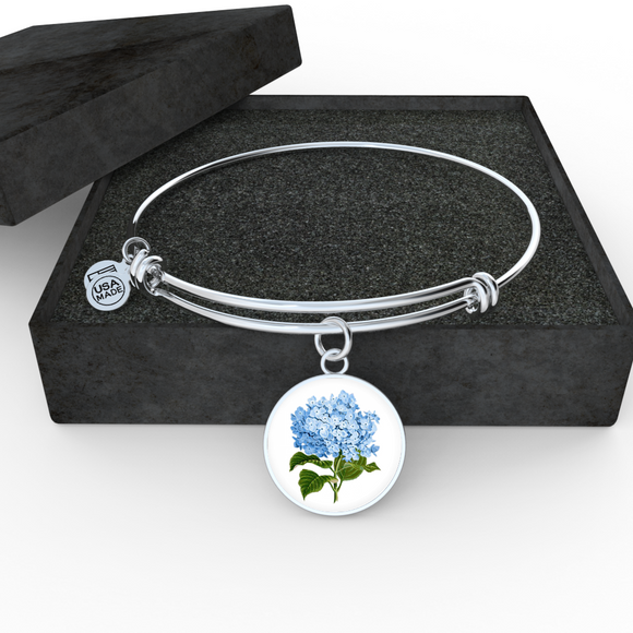 Hydrangeas, Bangle Bracelet