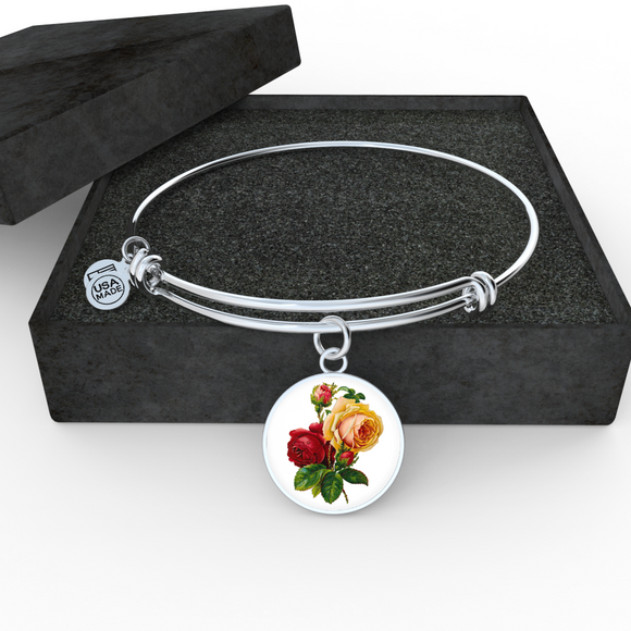 Gemini: Rose Red and Yellow, Bangle Bracelet