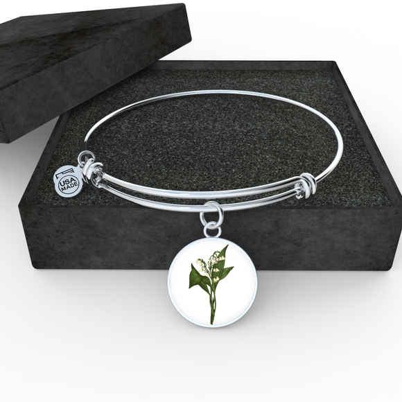 Lily of the Valley, Bangle Bracelet