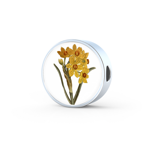 Narcissus Yellow, Round Charm Only