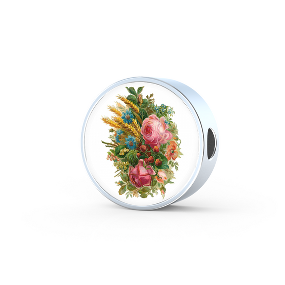 Roses, Roses, Roses: Pink Assortment, Round Charm