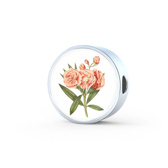 Carnation Soft Pink, Round Charm Only