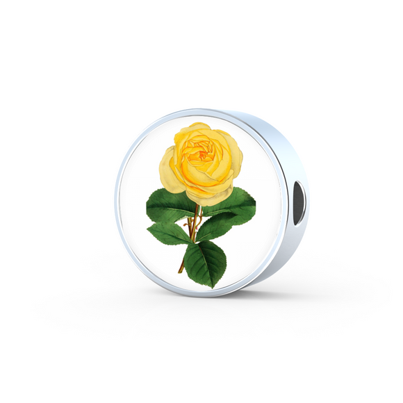 Rose Yellow, Round Charm Only