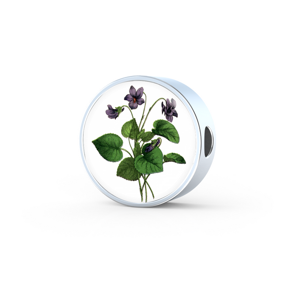 African Violet, Round Charm Only