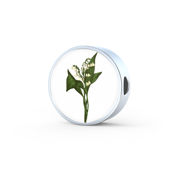 Lily of the Valley, Round Charm Only