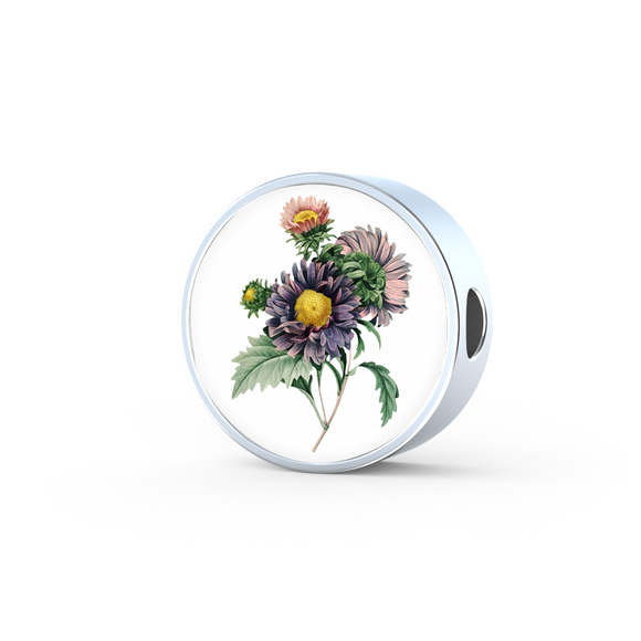 Aster Lavender, Round Charm Only