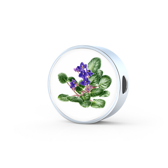 African Violet 2, Round Charm Only