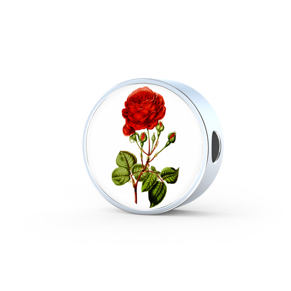 June: Rose Red 2, Round Charm Only