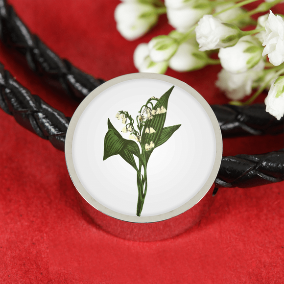 Lily of the Valley, Leather Bracelet