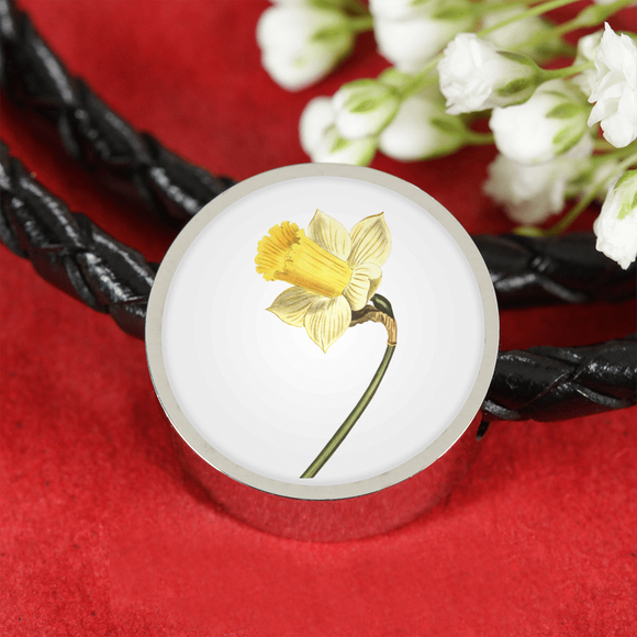 Daffodil, Leather Bracelet