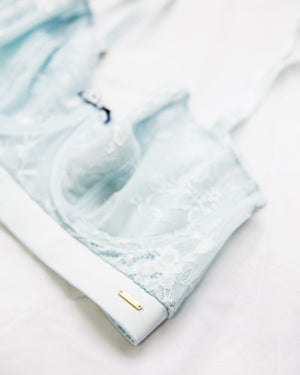 Emelie Longline Bra Light Blue - Limited Edition - PRE-ORDER