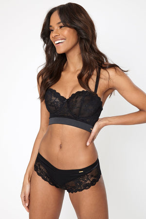 Coming Soon - Emelie Longline Bra Black