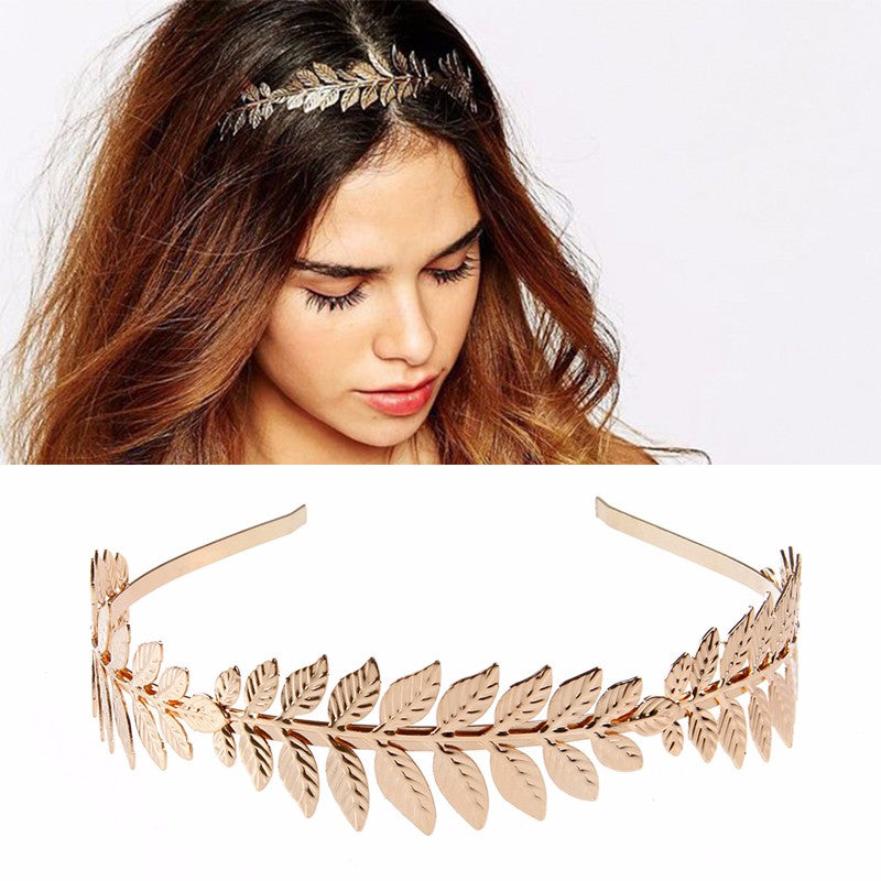 Goddess Olive Leaf Headband