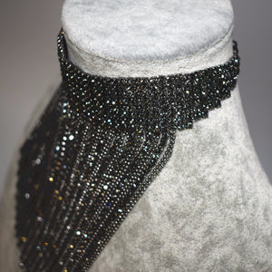 Party Rhinestone Charm Choker