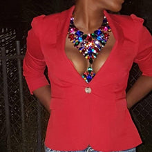 Crystal Gem Statement Necklace