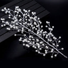 Comb Leaves Pearl Hairband