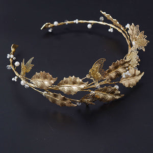 Vintage Gold Leaves Hairband