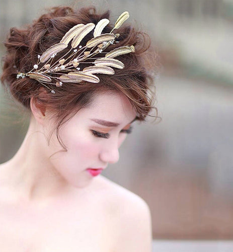 Gold Leaves Headband