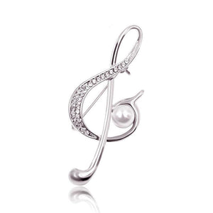 Music Note Style Brooch