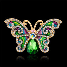 Summer Green Butterfly Brooch
