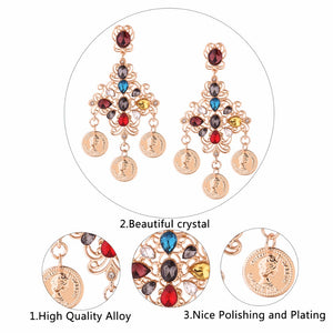 Vintage Alloy Tassel Earrings